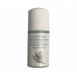 Deodorant roll on 100% natural  cu lamaie si aloe-50 ml